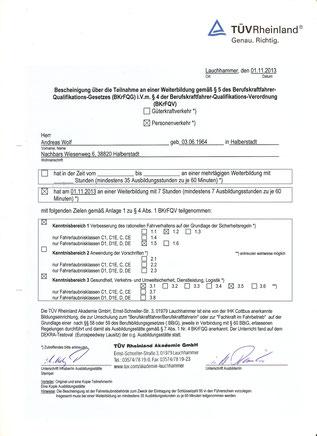 Andreas Wolf - Sicherheitstraining für Reisebusse