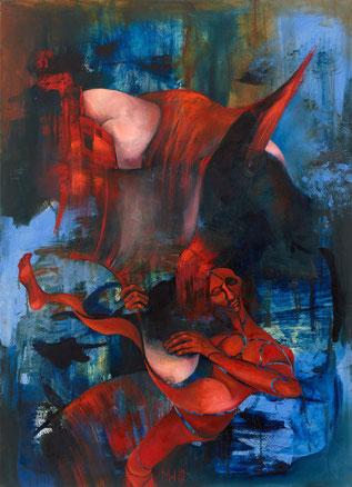 Die Harfenspielerin Maria Wirth painting