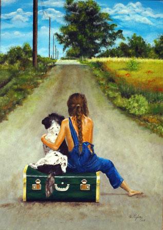 Sam und Lilly auf dem Weg