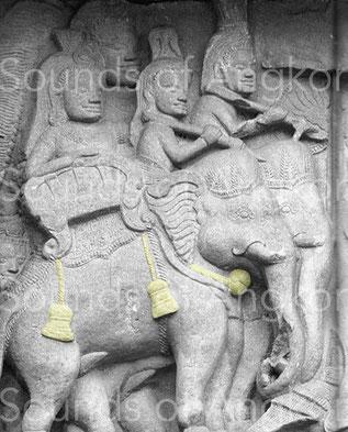 L'unique représentation d'un grelot éléphantin. Phnom Rung, Thaïlande. Période angkorienne.