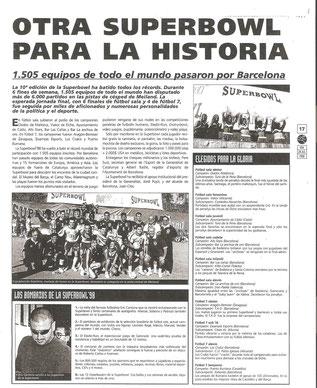 La Superbowl de futbol sala va aconseguir més de 700 impactes  en premsa esportiva en 6 anys. Especialment Sport, Mundo Deportivo i Marca.