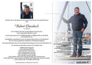 Hubert Ehrenbeck +26.10.2018