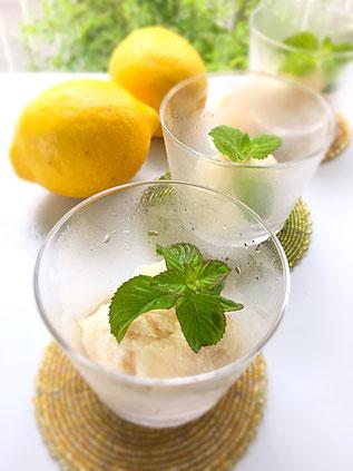 レモンのシャーベット