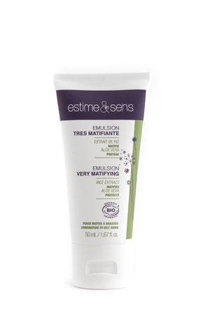 Estime & Sens Mattierende Emulsion für fettige / Mischhaut