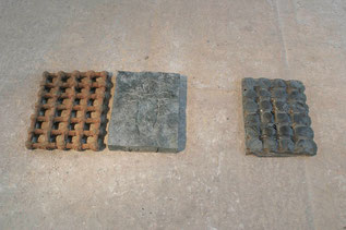 Ptomain, 1986/87, Eisen, Bronze, Blei, Unikat, 5 x 112 x 45 cm