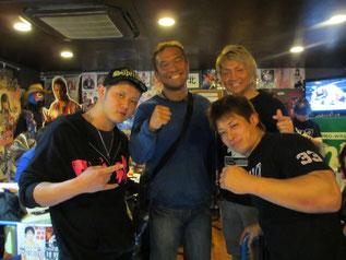 (左から)橋本大地選手、田中将斗選手、日高郁人選手、小幡優作選手