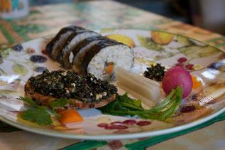 sushi vegano, riso integrale, sushi vegetale, gluten free