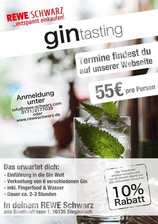 Gin Tasting Bamberg, Würzburg, Stegaurach Whiskey Geburtstags Geschenk Gutschein Hochzeit