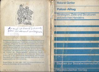 Roland Girtler, Polizei-Alltag