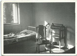 Mein Zimmer im Institut of Indian Culture in Bombay bei P. Fuchs