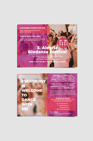 Flugblatt für Biodanza Festival