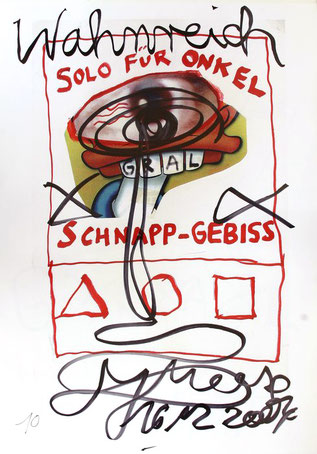 Jonathan Meese Edition. Solo fuer Onkel Schnapp-Gebiss. Plakat / PosterEdition