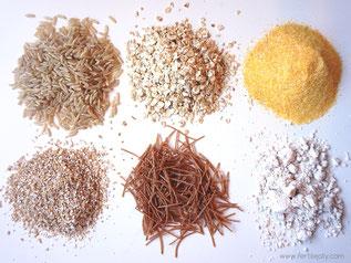 Kohlenhydrate und Insulin bei PCO-Syndrom. Mehl, Reis, Nudeln und Getreideflocken.