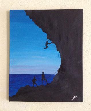 climbing - Dezember 2012 (40x50 cm)