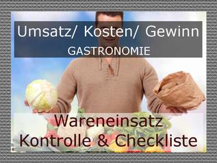 Wareinsatzkontrolle Gastronomie