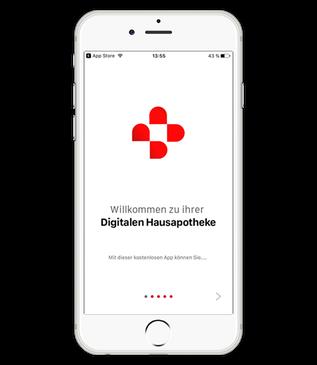 Startbild der App auf dem iPhone