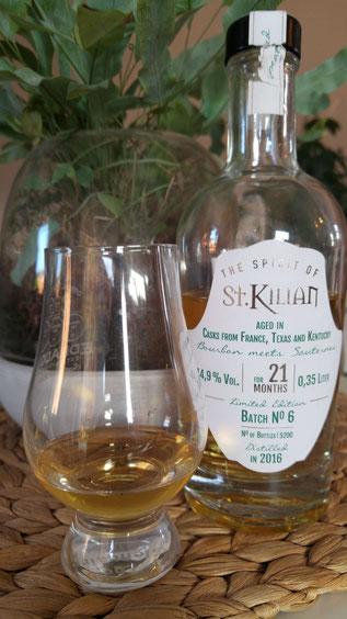 Spirit of St. Kilian Batch 6 Flasche und im Glas