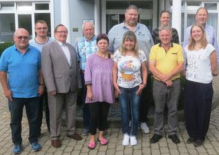 Die deutsche Jugendreferenten, mit der DSkV-Referentin Sabine König (vorne 4.v.l), Christian Dammbrück (vorne 1.v.l)