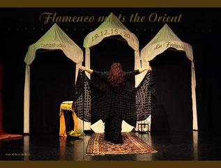 "Titelfoto zur Veranstaltung ""Flamenco meets the Orient"" bei der Fiesta de Invierno am 19.12.2015 im Tanzstudio La Fragua / Color-Foto by Boris de Bonn"