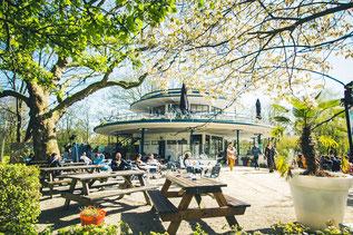 t' Blauwe Theehuis im Vondelpark Amsterdam ein wunderschöner 30er Jahre Bau