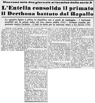 1959-60 DERTHONA - RAPALLO 1-3