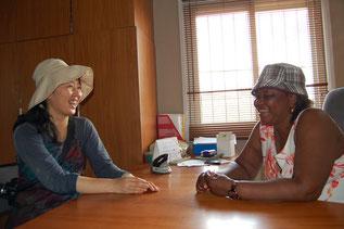 代表のママ・ローズと草の根活動について語り合う時間は何より楽しいです!