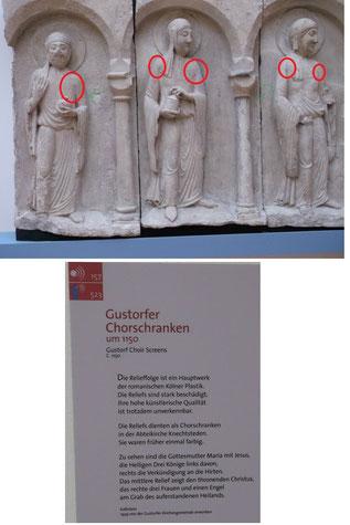 Armkugeln an den Gustorfer Chorschranekn im Landesmuseum Bonn