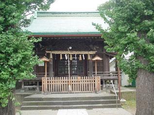 下丸子六所神社の拝殿