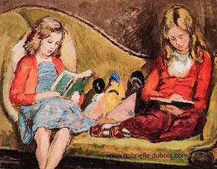 Tableau Amaryllis et Henrietta de la peintre Vanessa Bell, 1940