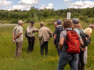Die Teilnehmer mit Franz-Josef Henckenmeier in der Grube Rolf  Foto: Edgar Mertens