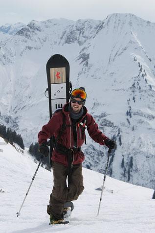 Eine meiner letzten Tage auf dem Snowboard