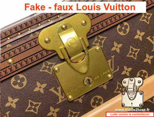 fake lock brass Louis Vuitton trunk