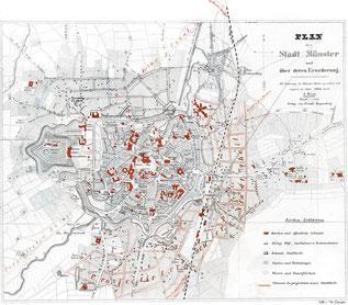 Stadtplan von 1864