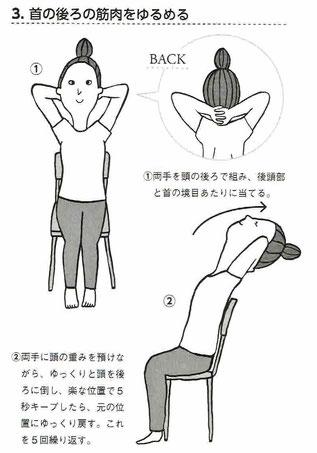 首の後ろの筋肉をゆるめる