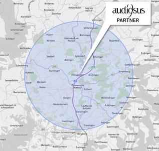 Wir sind zertifizierter Audiosus Partner im Raum Rottweil