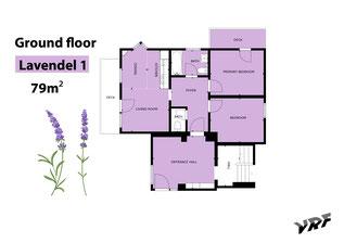 Skizze Ferienwohnung Lavendel I