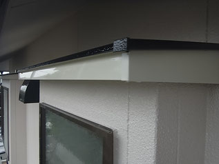 熊本市K様家の庇破風の塗装完成です。関西ペイント高耐久塗料使用。お勧めです。