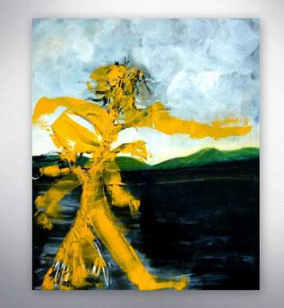 Bild, Gemälde, Silber, Gold, Rot, Weiß, Bunt, XXL, Original, Unikat, Menschen, Figuren, figurativ,
