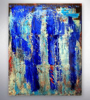 Bild, Gemälde, Silber, Gold, Rot, Grau, Schwarz Weiß, Bunt, XXL, Original, Unikat, Collage mit Stahlteil,