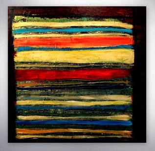 Moderne Bilder kaufen, abstrakte Gemälde kaufen, grafische Bilder, mit Streifen, Bunt, abstrakte Gemälde, Moderne Kunst, Bilder, abstrakt modern, Original, Unikat,