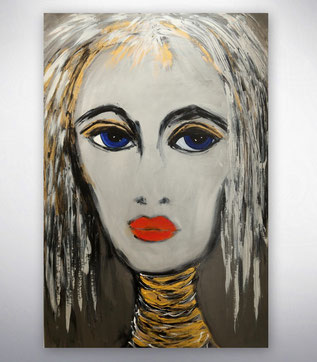 Bild figurativ, Portrait, Menschen, Gold, Silber,