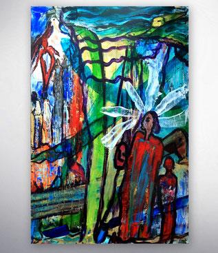 figurative Malerei, Moderne Bilder, Abstrakte Gemälde, Bunt, Original, Unikat, Hochformat, zeitgenössische  Originalbilder,