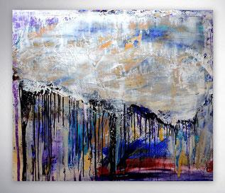 Bild, Gemälde, Silber, Gold, Rot, Gelb, Schwarz Weiß, Bunt, Original, Unikat,
