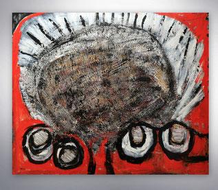 Bild, Gemälde, Silber, Gold, Rot, Schwarz, Weiß, Bunt, Original, Unikat, Collage,