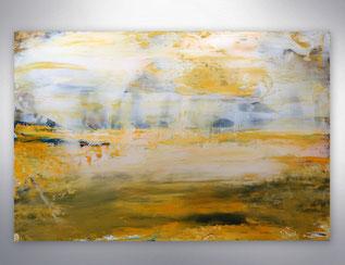 Bild, Gemälde, Silber, Gold, Gelb, Weiß, Bunt, XXL, Original, Unikat,