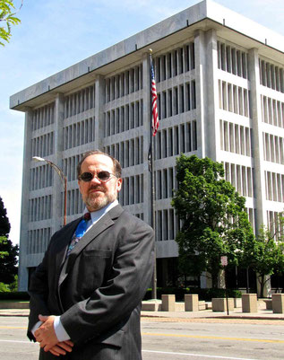 Rochester, NY general practice Attorney John Suda at the U.S. Federal Building