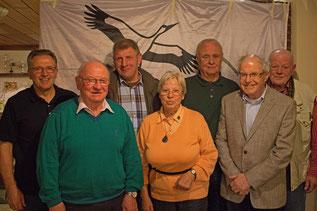 v.l.: Heinrich Eigenbrod, Fritz Fälber, Martin Grünke, Ursula Baumann, Helmut Wurmnest, Hans Schmager, Fritz-Ulrich Schott