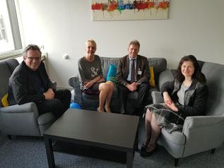 von links nach rechts: Thomas Franzkewitsch, Susanne Schneider, Manfred Puppel und Gaby Erdmann