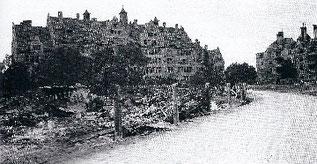 Das zerstörte Schulhaus
