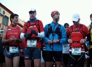 De izq. a der. Rafael Lara,Agustín Castro, Dionisio Flores, y Juan Valera.